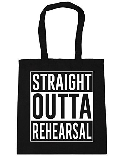 Shopping Bag HippoWarehouse litres Gym Rehearsal Beach x38cm 42cm Tote Black Straight Outta 10 CICFq