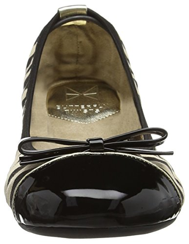 Nero Butterfly Flats Ballet black 041 Twists Cara Donna rawaxOqX