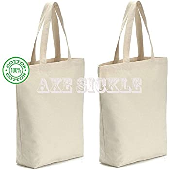 Amazon.com: Canvas Bag by Dimayar 4pcs Washable Canvas Shopping ...