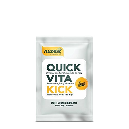 Nuzest Quick Vita Kick - Vitamin and Superfood Shake, Vegan, B12, Plant-based, Natural Energy Booster, Cacao Honey, Sample Size