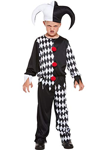 Rimi Hanger Childrens Halloween Jester Evil Joker Costume