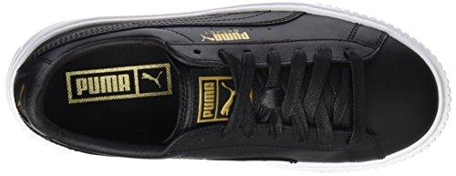 Puma Damen Mand Platform Kern Sneaker Schwarz (zwart-goud)