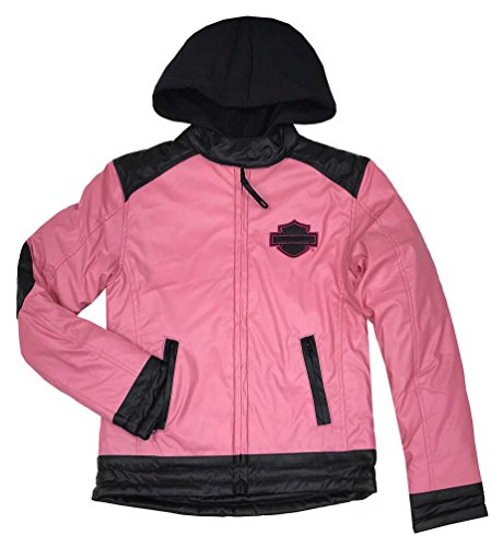 Harley-Davidson Little Girls' B&S Polyfil Fully Lined Zip Jacket, 6033575 (6X) Pink