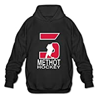 Mens/Boys Ottawa Senators #3 Marc Methot Hooded Sweatshirt Black XX-Large