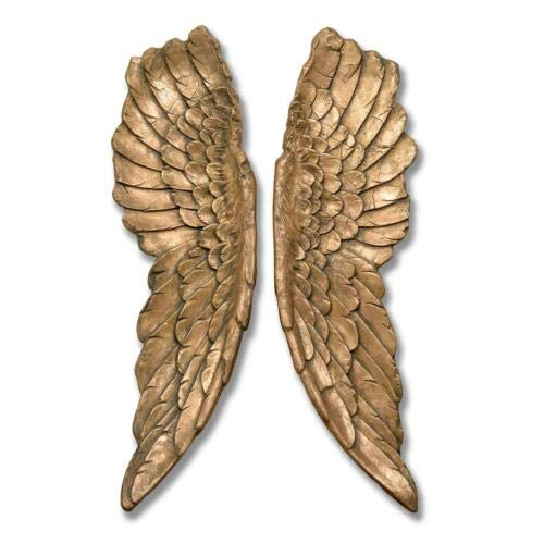 Large 61cm Silver Angel Wings Wall Art Hanging Decoration