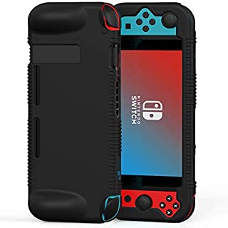 Semeving Compatible with Nintendo Switch Case,Soft Silicone Protective Cover Case Compatible with Nintendo Switch, Shock-Absorption & Anti-Scratch (Black)