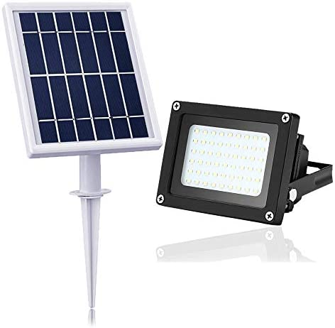 Solar Flood Light Outdoor,JPLSK 54Leds 400Lumen IP65 Waterproof Outdoor Flood Light Fixture for Doorway,Porch,Sign,Grill,Auto-on Off