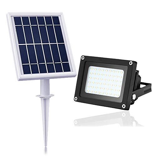 (Solar Flood Light Outdoor,JPLSK 54Leds 400Lumen IP65 Waterproof Outdoor Flood Light Fixture for)