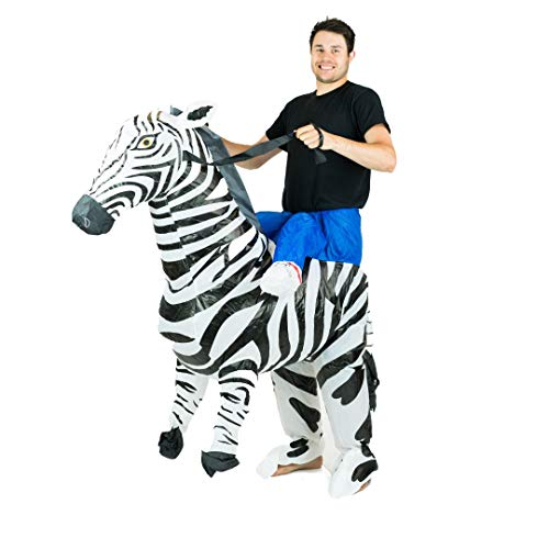 Bodysocks Adult Inflatable Zebra Fancy Dress Costume]()