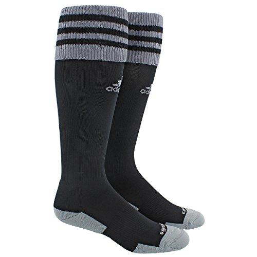 adidas Copa Zone Cushion Ii Soccer Socks, Black/Grey, Small