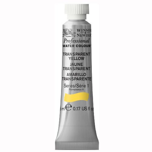 (Winsor & Newton Professional Water Color Tube, 5ml, Transparent Yellow by Winsor & Newton)