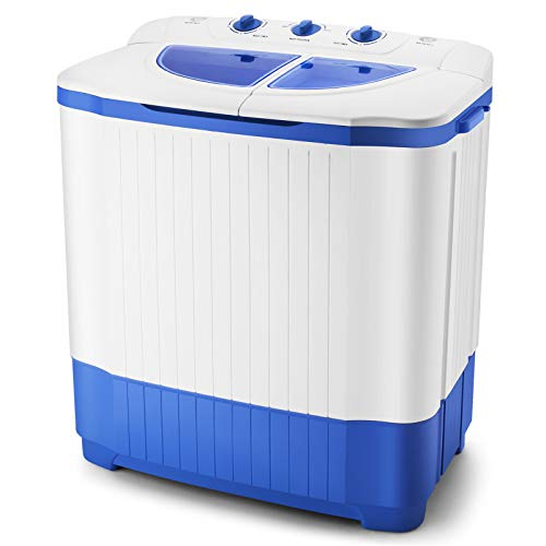 Artist Hand 18.7LBS Portable Mini Compact Twin Tub Washing Machine Washer Spin Dryer, Ideal for Dorms Apartments RV Camping