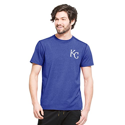 ('47 MLB Kansas City Royals Men's Full Speed Tee, Small, Shift Booster)