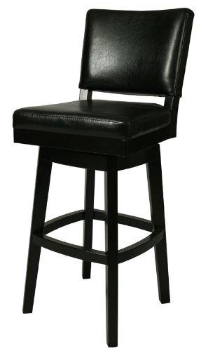 Pastel Furniture Richfield 26 Barstool In Feher Black Upholstered In