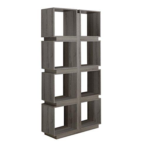 Monarch Specialties Dark Taupe Reclaimed-Look Bookcase, 71-Inch by Monarch Specialties
