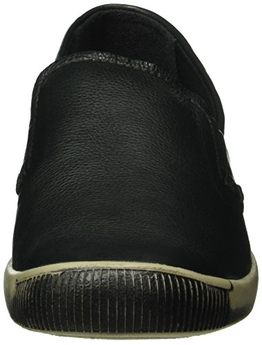 Softinos ITO344SOF Smooth, Mocasines para Mujer Negro - Schwarz (Black 009)