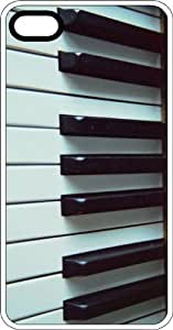 Ivory Piano Keys White Rubber Case for Apple iPhone 5 or iPhone 5s