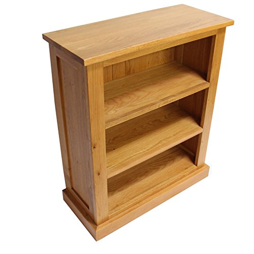 Oak Bookcase Cd Dvd Storage New Solid Oak Fixed Shelves