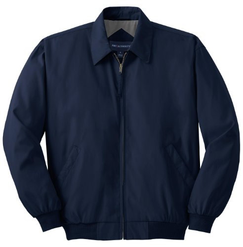 (Port Authority Casual Microfiber Jacket>M Bright Navy/Solid Pewter Lining J730)