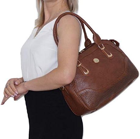 Ruwado Borsa a mano da donna con tracolla, elegante borsa da donna, grande portamonete da donna. Design classico ed elegante per tutte le occasioni, 38 x 28 x 20 cm