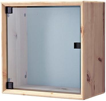 Ikea Nornas - El gabinete de Pared de Vidrio Puertas, Gris Pino, Azul - 37x37 cm: Amazon.es: Hogar