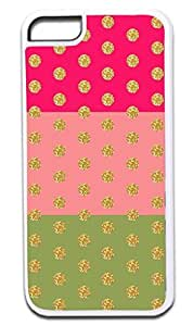 03-Colorful Damasks- Case for the APPLE IPHONE 6 ONLY!!! NOT COMPATIBLE WITH THE IPHONE 6 !!!-Hard White Plastic Outer Case with Tough Black Rubber Lining