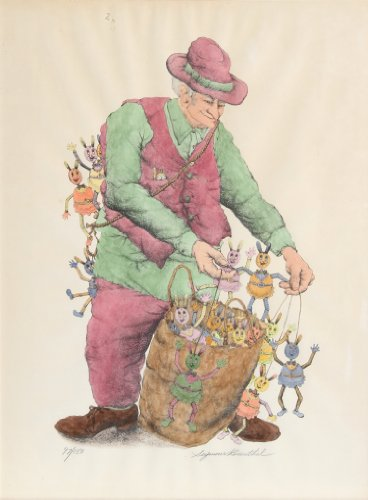 The Puppet Vendor (color)