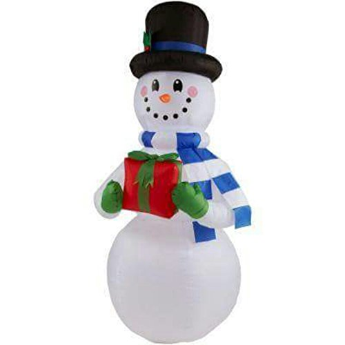 6FT INFLATABLE SNOWMAN WITH GIFT BOX