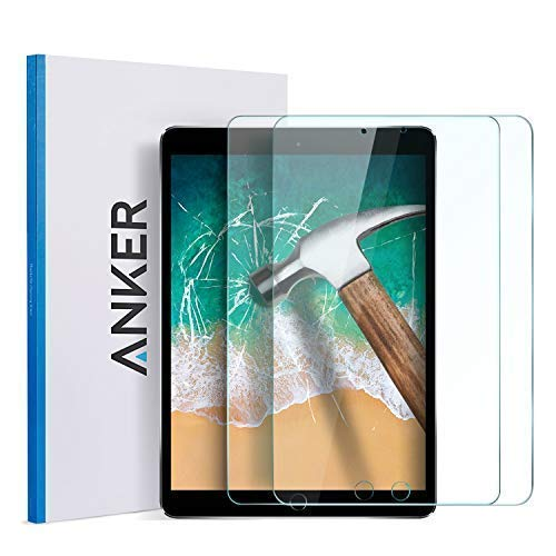 iPad Pro 10.5'' Screen Protector (2 Pack), Anker Tempered Glass Screen Protector iPad Air 10.5 inch (2019) - Retina Display/Apple Pencil Compatible/Scratch Resistant ... (Best Ipad Air 2 Screen Protector 2019)