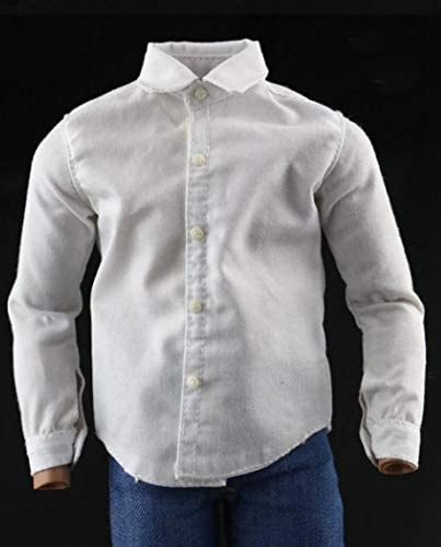 1//6 Scale Male White Suit Shirt Clothing Fit 12/'/' Action Figure Body Gifts Model