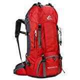 Pro-G Red Outdoor Backpack Hiking Bag Daypacks Camping Travel Rucksack Trekking 60L