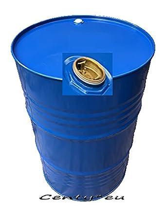 200 Liter Metallfass Spund blau innen lackiert Stahlfass ...