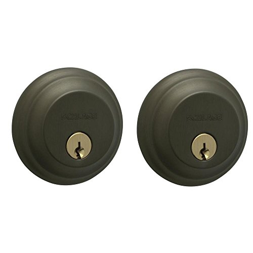 Double Cylinder Deadbolt in Oil Rubbed Bronze - B62N 613