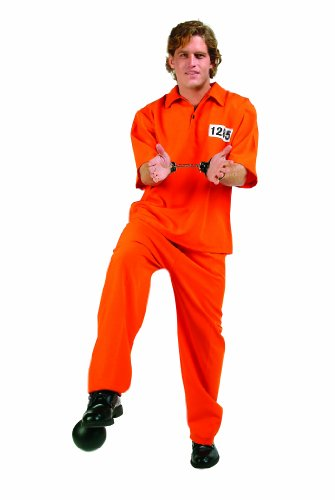 RG Costumes Men's Not Guilty, Orange One -