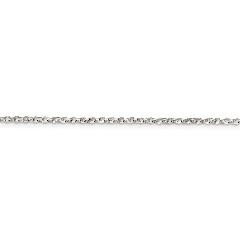 with Secure Lobster Lock Clasp Solid 925 Sterling Silver 2mm 8 Side Diamond Cut Cable Chain Necklace