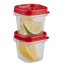 Rubbermaid 7J55 Easy Find Lid Square 1/2-Cup Food Storage Container, 2 pack