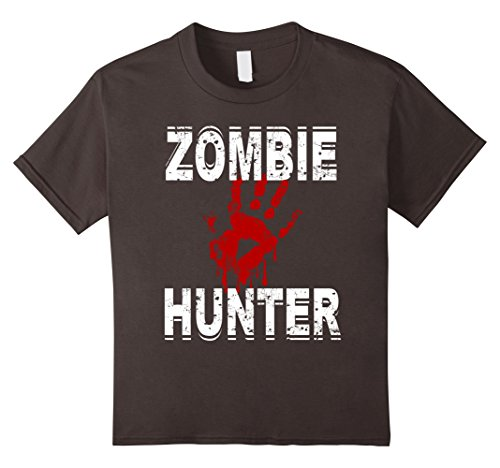 Kids Zombie Hunter T Shirt Scary Halloween Costume 12 Asphalt