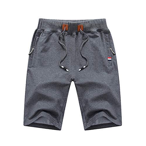Vacanza Con Uomo Pantaloni Pantaloncini Spiaggia Leggero Tasche Grigio Asciugatura Retro Scuro Veloce fqU8Y