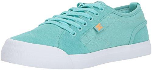 DC Girls' Evan Skate Shoe, Pool Blue, 2 M US Little Kid (Kids Shoes Dc)