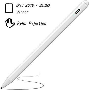 قلم ستايلس لـ Apple iPad ، XIRON Active Stylus مع قلم iPad عالي الدقة مقاوم النخيل متوافق مع iPad Pro 2020 و 2018 / iPad 2019 (7th Gen)/iPad 2018(6th Gen)/iPad Air 3/iPad Mini 5 K10