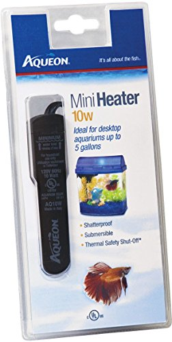 Aqueon Fish Tank Mini Heater, 10-watt, Plastic by Aqueon