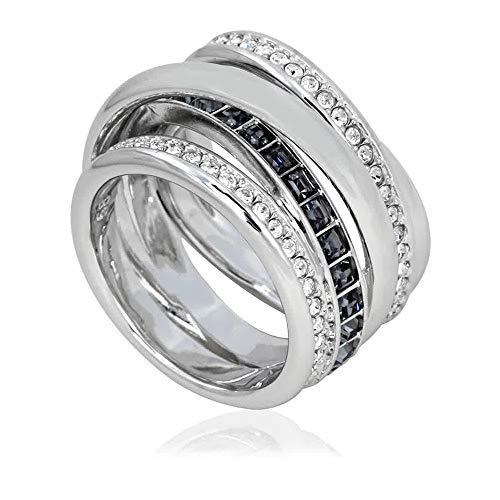 Swarovski Dynamic Silver-tone Ring – Size 8