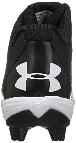 Under Armour Boys' Leadoff Mid Jr. RM Baseball Shoe, Black (011)/White, 1 by Under Armour (Image #2)
