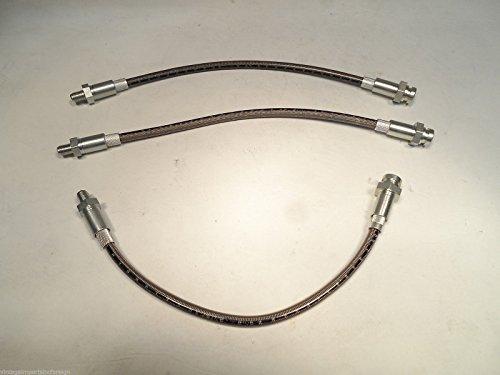 EPC Stainless Steel Brake Hose Kit Fitting Datsun Roadster SPL311 & SRL311 1965-1970