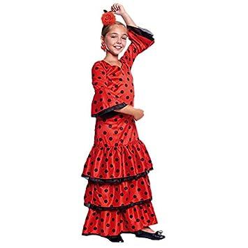 Disfraz Sevillana Rojo Niña (10-12 años) (+ Tallas) Carnaval ...