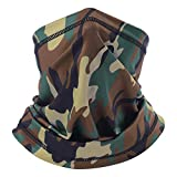 Summer Camo Face Scarf Mask, Dust Sun UV Protection Camo Neck Gaiter for Fishing Hunting Cycling Hiking, Quick Dry Breathable Thin Cooling Bandana Headband