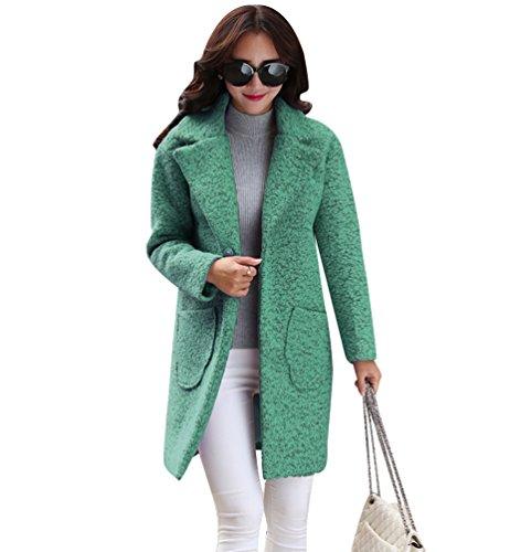 WanYang Mujer Grueso Abrigo Mujeres Elegante Chaqueta Abrigos de Lana Capa Jacket Invierno Parka Verde