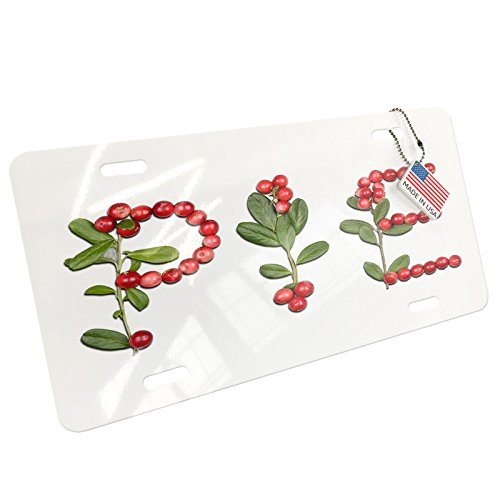 NEONBLOND Pie Cranberries Fruits Aluminum License Plate