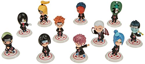 OLIA DESIGN OliaDesign Japanese Manga Naruto Akatsuki Action Figure (Set of 11) ()