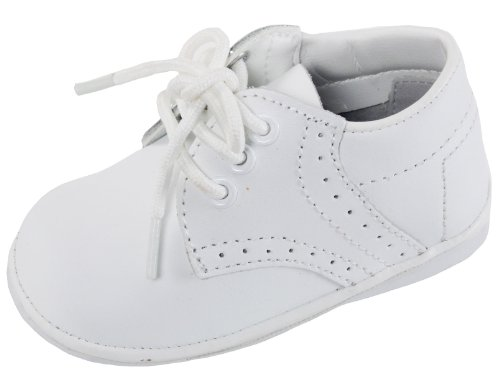 Angels Garment Baby Boys White Size 3 Oxford Dress Shoes